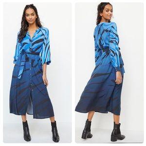 NWT Anthropologie Azure maxi shirt dress